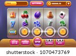 main screen for slots game.... | Shutterstock .eps vector #1070473769