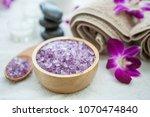 beautiful spa composition... | Shutterstock . vector #1070474840