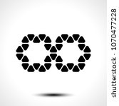 abstract infinity symbol on...   Shutterstock .eps vector #1070477228