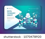 digital technology concept... | Shutterstock .eps vector #1070478920