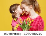 concept of mother's day. mom... | Shutterstock . vector #1070480210