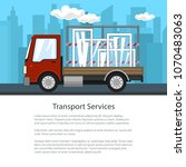 poster of small truck with... | Shutterstock .eps vector #1070483063
