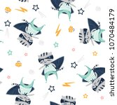seamless pattern with a cat...   Shutterstock .eps vector #1070484179