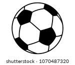vector illustration of a soccer ... | Shutterstock .eps vector #1070487320