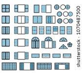 windows icon set. window types... | Shutterstock .eps vector #1070487500