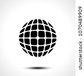 abstract globe design icon.... | Shutterstock .eps vector #1070489909