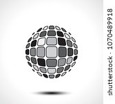 abstract globe design icon.... | Shutterstock .eps vector #1070489918