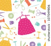 children's dresses background | Shutterstock .eps vector #107049806