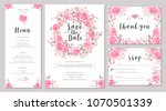 set of wedding invitation card... | Shutterstock .eps vector #1070501339