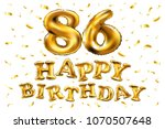 vector happy birthday 86th... | Shutterstock .eps vector #1070507648