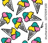 ice cream drawing seamless...   Shutterstock .eps vector #1070509100
