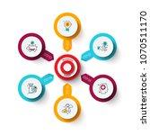 vector target with arrows.... | Shutterstock .eps vector #1070511170