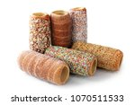 hungarian chimney cake. a... | Shutterstock . vector #1070511533