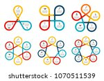 vector cycle elements for... | Shutterstock .eps vector #1070511539