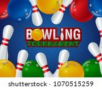 bowling realistic illustration... | Shutterstock .eps vector #1070515259