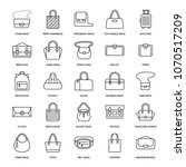 women handbags flat line icons. ... | Shutterstock .eps vector #1070517209