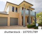 typical   facade of a modern... | Shutterstock . vector #107051789