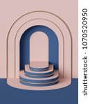 3d render  abstract geometric... | Shutterstock . vector #1070520950