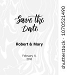 save the date calligraphy on... | Shutterstock .eps vector #1070521490
