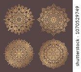 mandala vector design element.... | Shutterstock .eps vector #1070529749