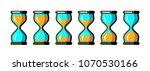 simple vector hourglass... | Shutterstock .eps vector #1070530166