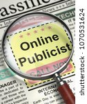 Stock photo newspaper with jobs section vacancy online publicist online publicist newspaper with the vacancy 1070531624
