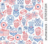 4 july. usa independence day... | Shutterstock .eps vector #1070535104