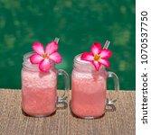 grapefruit pink shake or...   Shutterstock . vector #1070537750