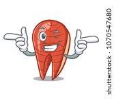 wink fish slice character... | Shutterstock .eps vector #1070547680