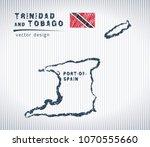 trinidad and tobago vector... | Shutterstock .eps vector #1070555660