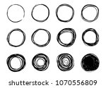 circle scribble line sketch set ... | Shutterstock .eps vector #1070556809