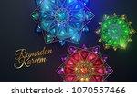 ramadan kareem. abstract girih... | Shutterstock .eps vector #1070557466