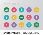 set of 15 editable sound icons. ...