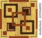 wooden square inlay  dark wood...