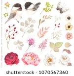 collection floral design... | Shutterstock .eps vector #1070567360