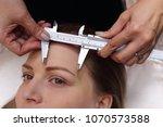 professional beautician asian... | Shutterstock . vector #1070573588