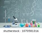 interior of modern chemistry... | Shutterstock . vector #1070581316