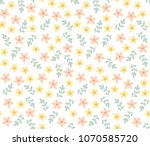 cute pattern with small flowers ...   Shutterstock .eps vector #1070585720