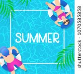 summer time background design... | Shutterstock .eps vector #1070585858