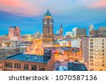 downtown skyline with buildings ... | Shutterstock . vector #1070587136