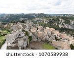 aerial view to medieval...   Shutterstock . vector #1070589938