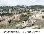 aerial view to medieval...   Shutterstock . vector #1070589944