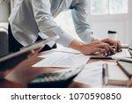 business team present.... | Shutterstock . vector #1070590850
