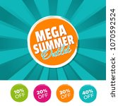 mega summer outlet color banner ...   Shutterstock .eps vector #1070592524