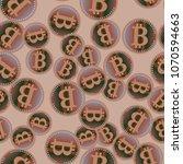 bitcoin electronic coins... | Shutterstock . vector #1070594663