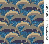 seamless texture with a flock... | Shutterstock . vector #1070597354
