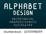 fonts technology and modern... | Shutterstock .eps vector #1070598059