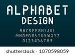 fonts technology and modern...   Shutterstock .eps vector #1070598059