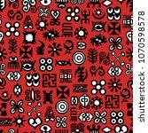 seamless african adinkra... | Shutterstock .eps vector #1070598578