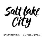 salt lake city  text design.... | Shutterstock .eps vector #1070601968